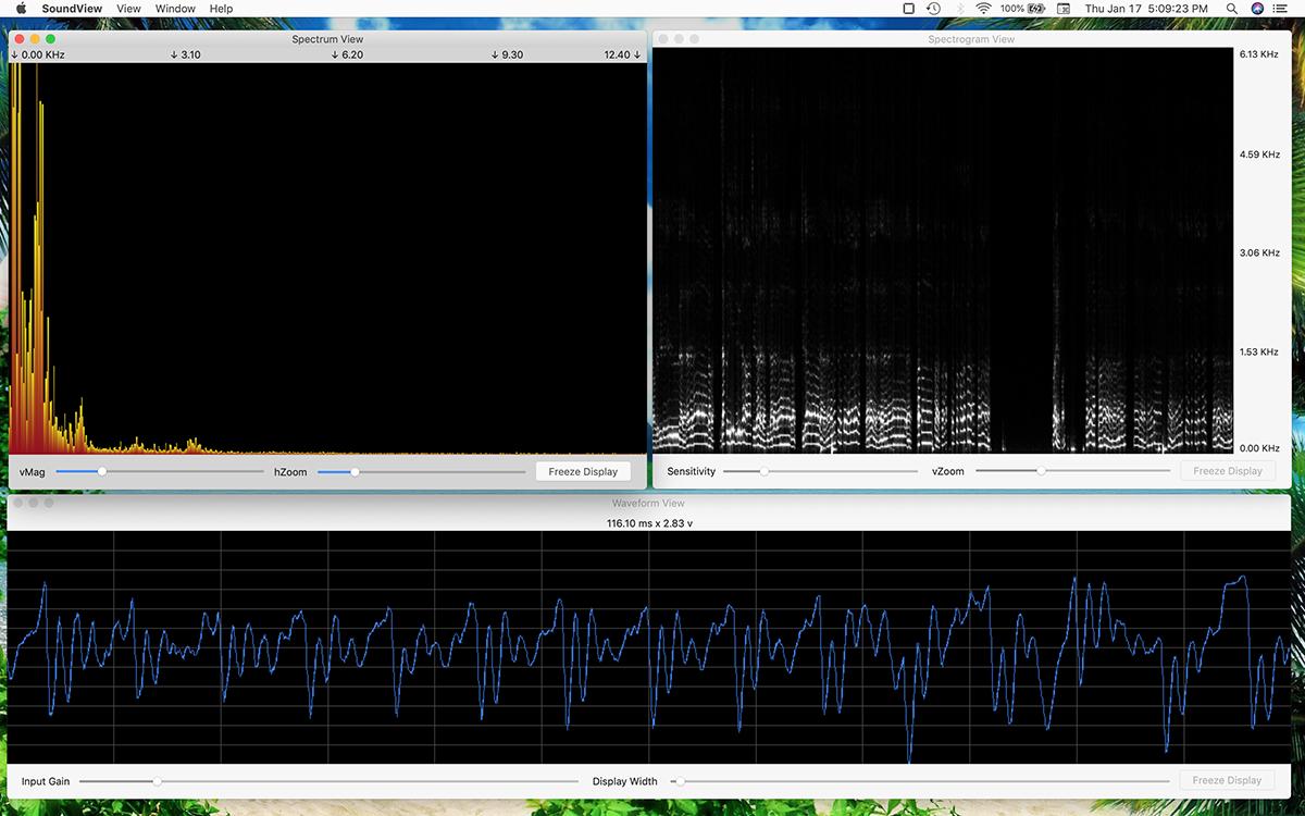 Sound View, An Audio Spectrum Analyzer & Spectrograph App