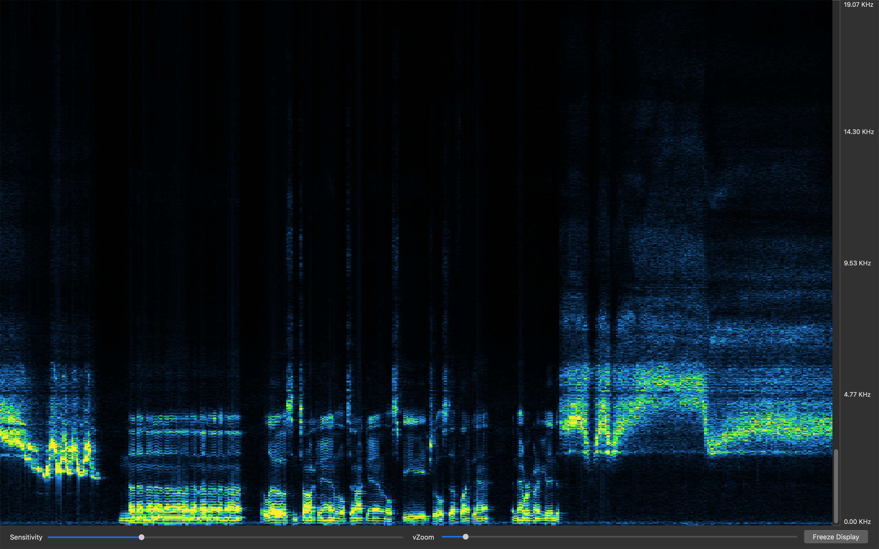 Sound View, An Audio Spectrum Analyzer & Spectrograph App for macOS